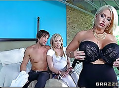 Big huge cock fucked by mom and friends daughter in law