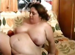 BBW enjoyed the feel of anal play