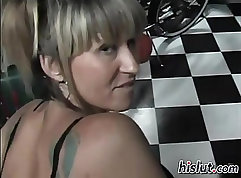 Amazing milf sucking and fucking