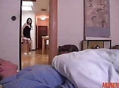 Attractive Japanese wife gets her twat fucked