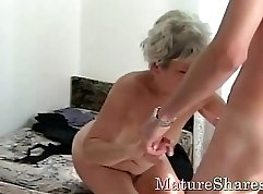 Young Mature Girl Sucks Cock In the Shower