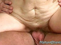 All that nails her vagina is her meaty hairy