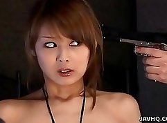 Bosomy Oriental Japanese babe blows fresh weeb like a pro