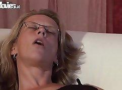 Beautiful german mom pov with webcam