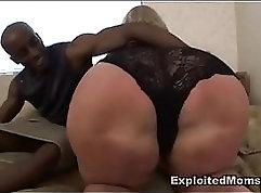 BBW Ebony Milf Masturbates Until She Got Poked In The Ass