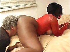 Big ass ebony pounded rough after sex