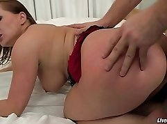 Chloe Vanillades Red Head Dildo Strok After Anal Sex For The Twisties