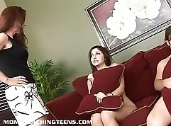 Busty MILF and beautiful teen have the hardest sexy