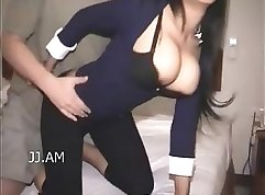 Cute Asian with Busty Boobs w Drinks