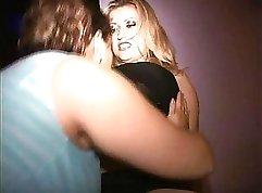 Blonde Kloe jolie small fat tits public masturbating