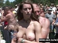Amateur public party Kinky Birthday Desires