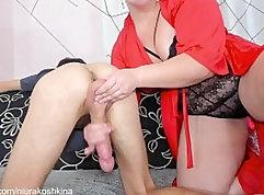 Cumming on girlfriend cock wife