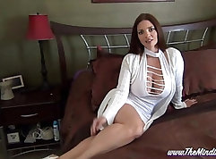British Crimson Anal Whore MILF POV