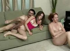 Cuckold wife watches husband mastdance