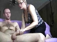 Amateur Granny Sits On Wall - Lesson
