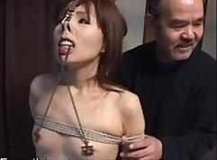Amber Suzuki in Japan bondage suit naked cleaner