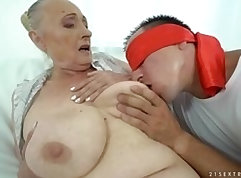 Chubby mom getting a cock in her ass