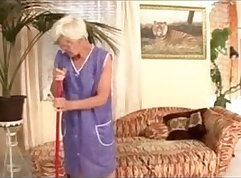 Cheating granny enjoying young studs hard