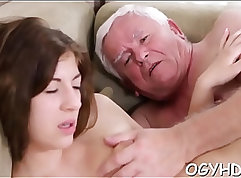 Beautiful young girl getting drilled in bed