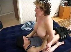 Chubby granny playing with her pussy