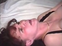 Cock hungry Mommy Beretta gets a rough anal fuck