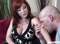 Curvy redhead mother i would like to fuck is playing with my pussy