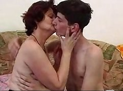 Grandma with huge tits fingers herself on webcam