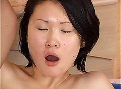 Asian brunet chick has Russian anal fuckin stick