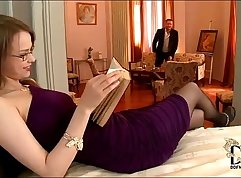 Horny secretary with tits and ass gets a massive cumload