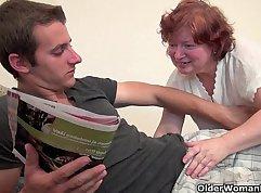 Pretty Son Seduces Grandma Ryder
