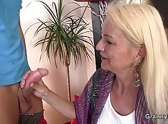 Blonde Granny To Be Fucked