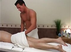Blonde Twink Riley Ethan Suck and Bangs In Massage