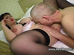 Bald bear pussy pounded in the ass by classmate before having oral