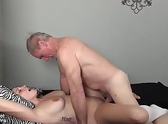 Casted milf still hungry for grandpa cock