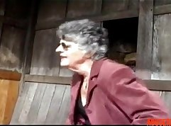 Busty mature granny banged
