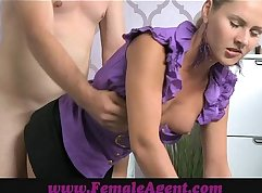 Bum Whore Multiple Facial At The Casting Couch
