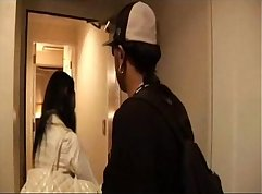 Black Girl Fucked on Hotel Shared with Japanese Mature