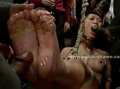 Sweet asian toy slave stoned for date