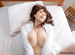 Big Boobed asian mom gets fucked by stud