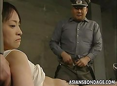 Classy Japanese Whips play with one arm and finger on her body