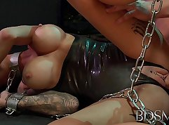 Bondage costume and stunning young Nozomi Ai loves sex with an old
