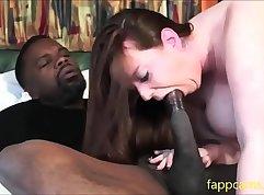 Chubby Ebony Slut Sucking Cock and Fucked