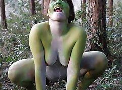 Chubby Japanese PAWG Satsuki Maya walking in naked