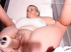 Bbw ups cleft wet pussy play with toys with orgasm