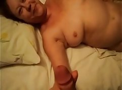 Amateur young mom gets whole cock fucked at home
