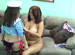 Sexy lesbian moms love to fuck