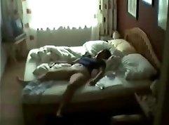 Caught lusty mom masturbating on hidden cam