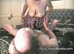 Couple Suck Tits and Fuck Hard In Home Outdoors