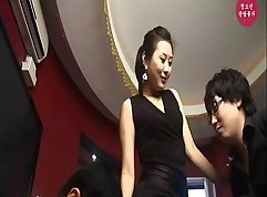 Korean horny red chick submerses herself