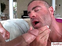 Caught at Massage and Gets a Facial
